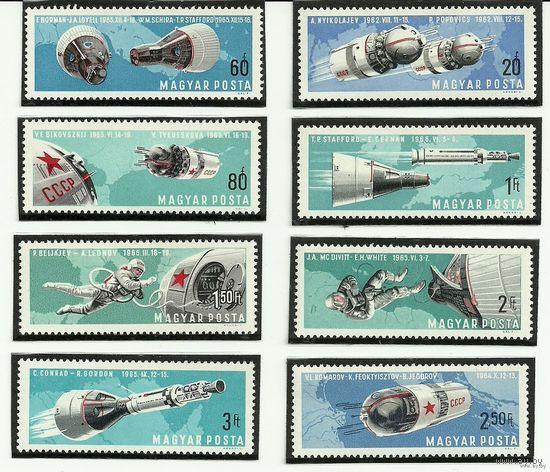 Исследования космоса. Серия 8 марок негаш. 1965 Венгрия