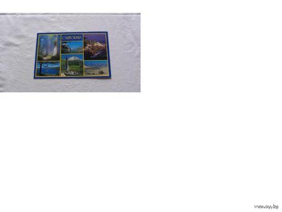 Две одинаковые почтовые карточки сша CALIFORNIA   распродажа