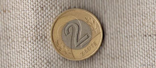 Польша 2 злотых 1994 /биметалл/(Oct)
