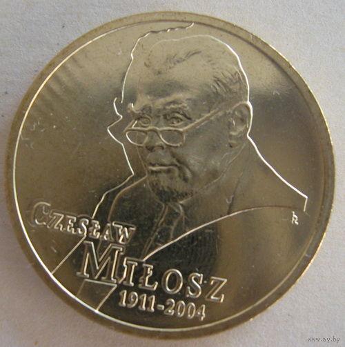 Польша 2 злотых 2011 г Gzeslaw Milosz