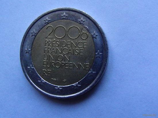 Франция 2 евро 2008г   Председательство в евросоюзе.  распродажа