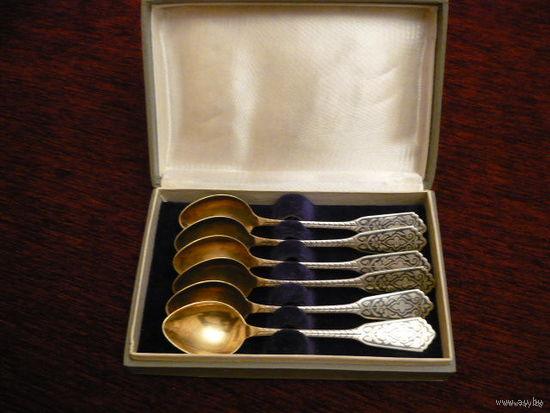 6 серебреных ложечек
