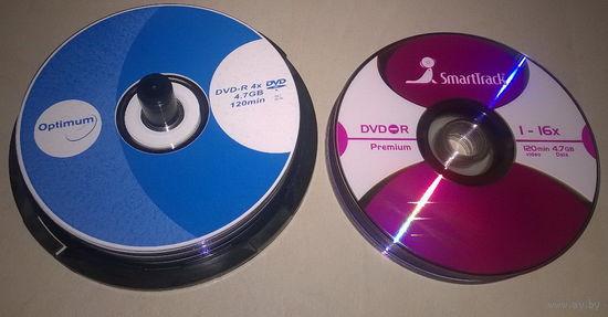 DVD-R SmartTrack и Optimum ((цена за 3 штуки)) Чистые компакт диски