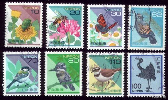8 марок 1981-1997 гг Япония Фауна