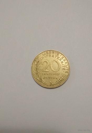 Франция / 20 сантимов / 1974 год