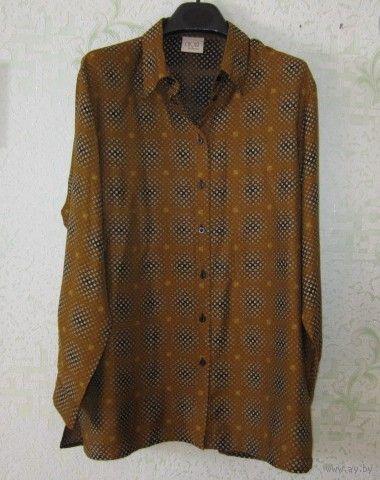 Рубашка шелковая женская, р.50-52 (см. мерки)