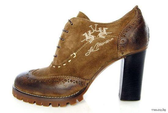 РАСПРОДАЖА!!! СКИДКА 35 %!!! Эксклюзивные кожаные туфли ручной работы бренда La Martina, 100 % оригинальные MADE IN ITALY