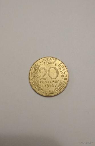Франция / 20 сантимов / 1976 год