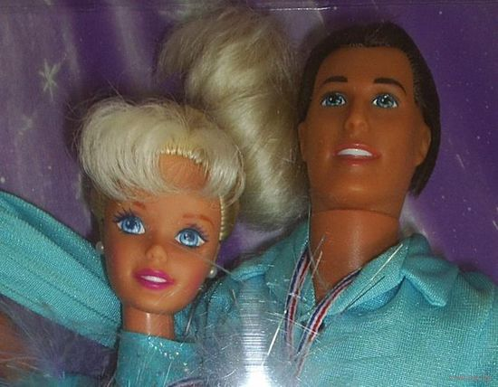 Куклы Барби/Barbie and Ken Olympic Skater фирмы Mattel, 1997 г.