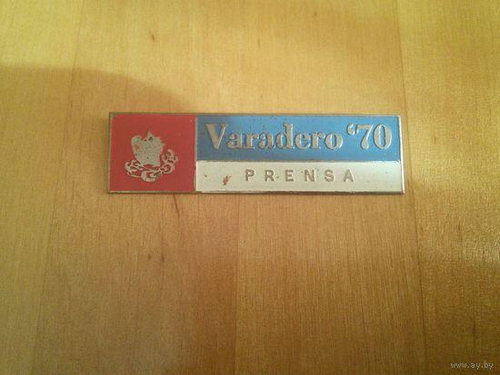 Иностранный знак - Varadero'70   PRENSA