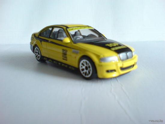 Bmw м3 1\59 спортивная. цвет жёлтый. металл. надписи на корпусе  распродажа