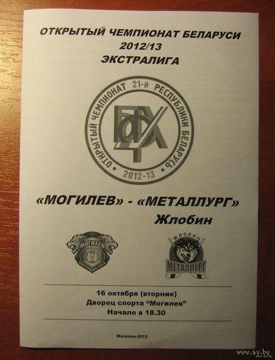 Программа (хоккей). Могилев - Металлург (Жлобин). 16.10.2012.