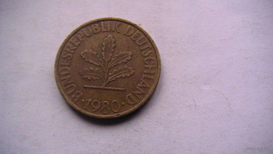 10 пфенингов фрг 1980 (F)   распродажа
