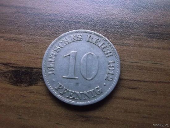 Германия 10 пфеннигов 1912 A