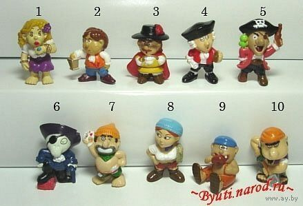 """Киндер из серии """"Пираты"""" (цена за одну единицу,наличие в описании)"""