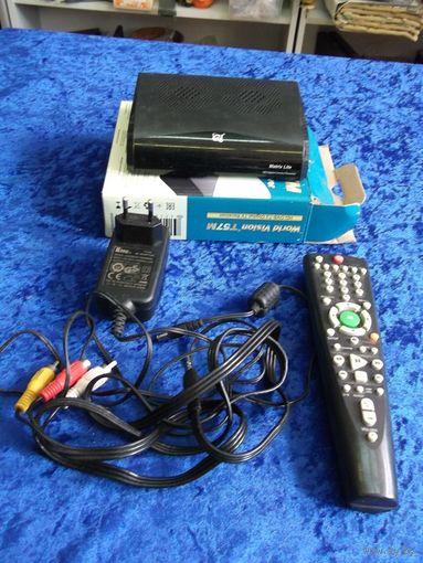 ТВ ресивер Matrix life(Космос ТВ) в комплекте.