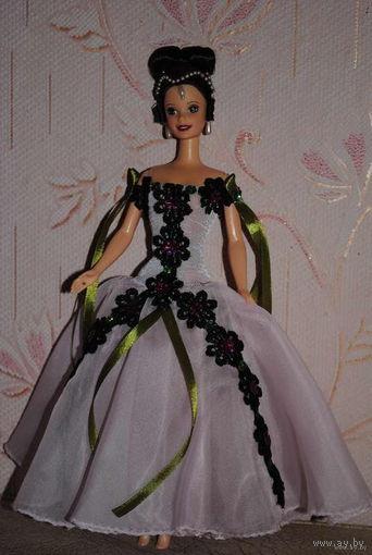 """Продам новое ПЛАТЬЕ для куклы Барби: """"ЭЛЬФИНА"""" - машинный самошив, сидит весьма аккуратно. Сама кукла, как и её головной убор в стоимость не входят. Пересыл по почте платный!"""