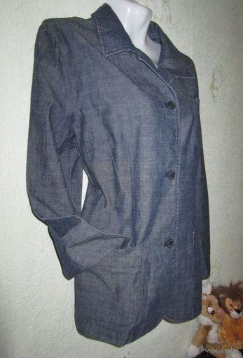 Пиджак-ветровка джинсовый, р.46