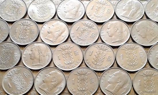 Бельгия ( 1fr. Церера ) 20 монет - одним лотом.