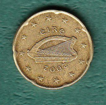 Ирландия 20  евро центов 2002 год