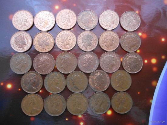 Коллекция - Великобритания 1 пенни 28 монет БЕЗ ПОВТОРОВ