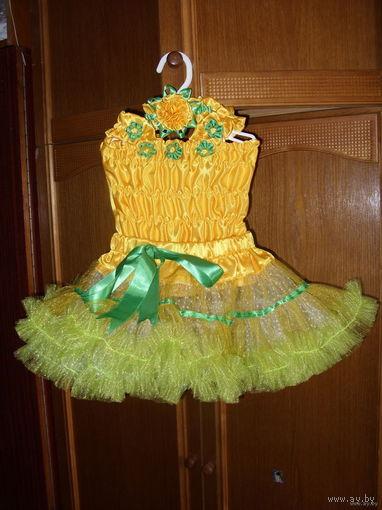 Распродажа!!! Комплект, юбка американка, топ, повязка на голову