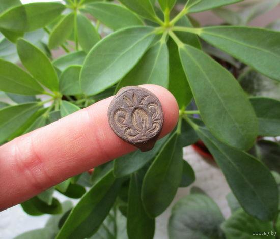 Старинный перстень с псевдогеральдикой