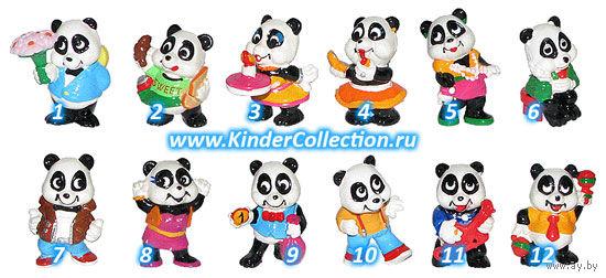 """Фигурка #10 Johnny Twistino из серии """"Панды"""" (Panda Party, Вечеринка панд). Ferrero 1994."""