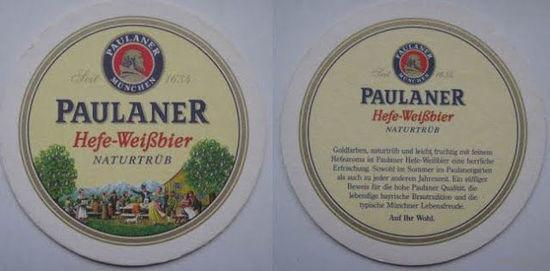 Подставка под пиво  Paulaner /Германия/.
