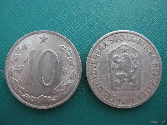 Чехословакия  10 геллер  1964