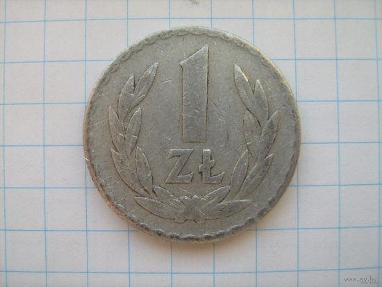 Польша 1 злот 1949г. алюминий