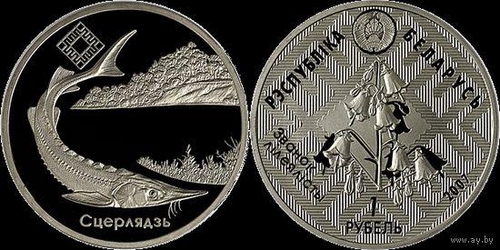 """Заказник """"Днепро – Сожский"""", 2007 год, 1 рубль."""
