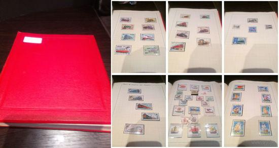 Коллекция марок техника  + альбом формата А-4 более 60 листов !!! марки не приклеены все в клемашах