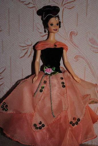 """Продам новое ПЛАТЬЕ для куклы Барби: """"ЦВЕТАНА"""" - машинный самошив, сидит весьма аккуратно. Сама кукла, как и её головной убор в стоимость не входят. Пересыл по почте платный!"""