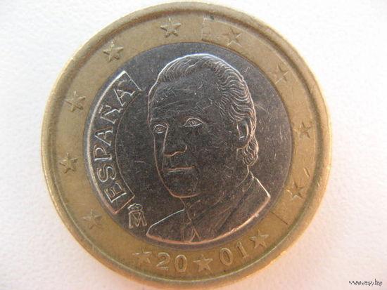 Испания 1 евро 2001г.   Распродажа!!!
