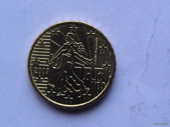 Франция 10 евроцентов 2009г.  распродажа