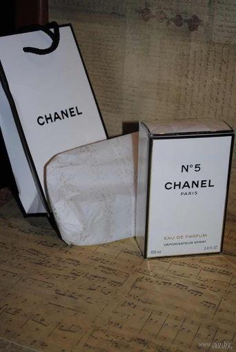 CHANEL No5 - Paris - Eau de parfum - vaporisateur spray - Подленно оригинальный продукт в подарочном пакете и с бумажной фирменной упаковкой - НОВЫЕ- на все 100%!