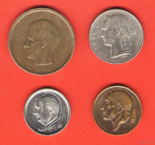 Бельгия. 4 монеты. Цена короче миниюбки.