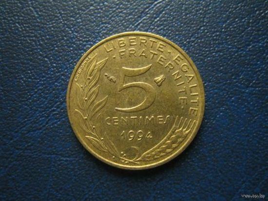 ФРАНЦИЯ 5 сантимов 1994г.  распродажа