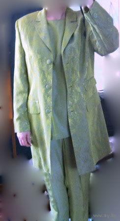 Костюм нарядный Jean Claire Германия Тройка (+юбка + сумка новая в тон )  Р-р 48 Распродажа !