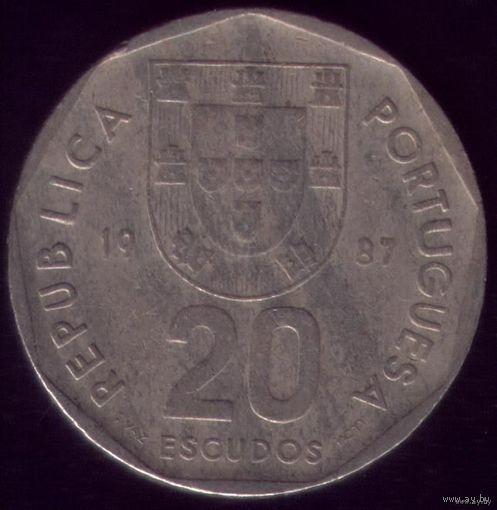 20 Эскудо 1987 год Португалия