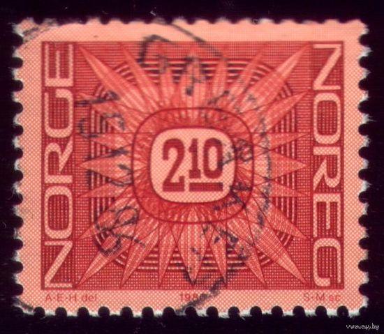 1 марка 1986 год Норвегия