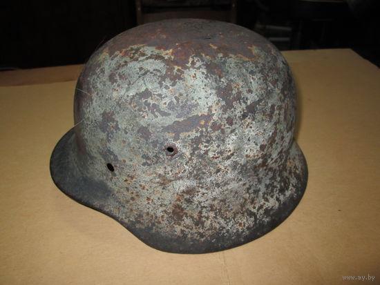 С 1 рубля.Каска шлем(с остатками родной краски) Вермахт