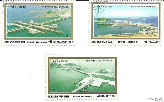Морские дамбы. КНДР. 1986 г. (Корея)