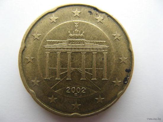 Германия 20 евроцентов 2002г. (F)