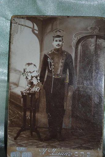"""Фотография """"вояки"""" царской армии - до 1917 года (в период I мировой войны)., - фото редкое., - с элементами ручной работы., см.фото!"""