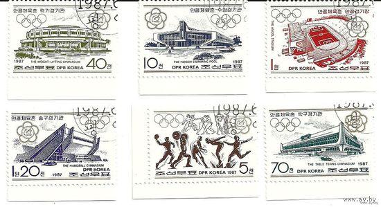 Спорт. Спортивные сооружения. КНДР 1987 г. (Корея)
