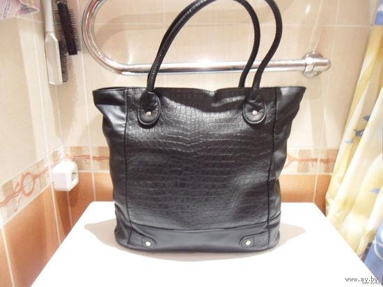 Сумка-шопер черная женская Орифлей
