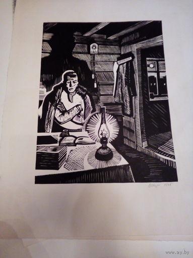 Литография художник Шматов