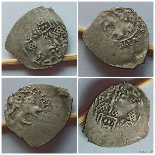 Большая Редкость!!! Серебро!!! Редкая деньга, Василий I Дмитриевич (1389-1425), сокольник/ арабская легенда!!! Приличное состояние для такой монеты!!!